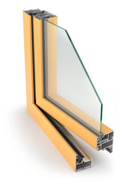 Hliníkové okná Aluprof MB 45