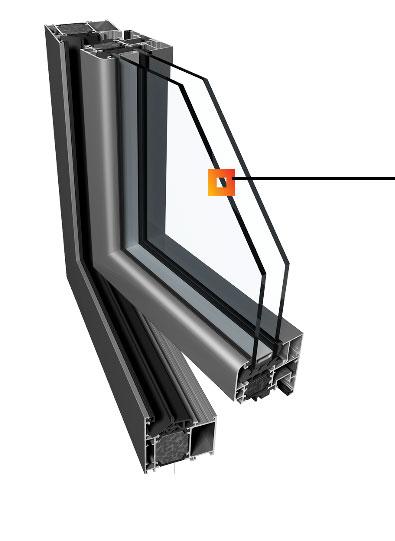Hliníkové okná Ponzio PE 68+ Ponzio PE 68 HI